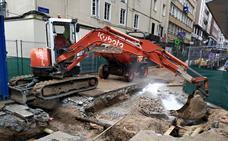 Arreglada ya la fuga de agua provocada por las obras de la calle Miguel Artigas