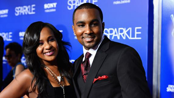 Bobbi Kristina Brown, junto a Nick Gordon. /