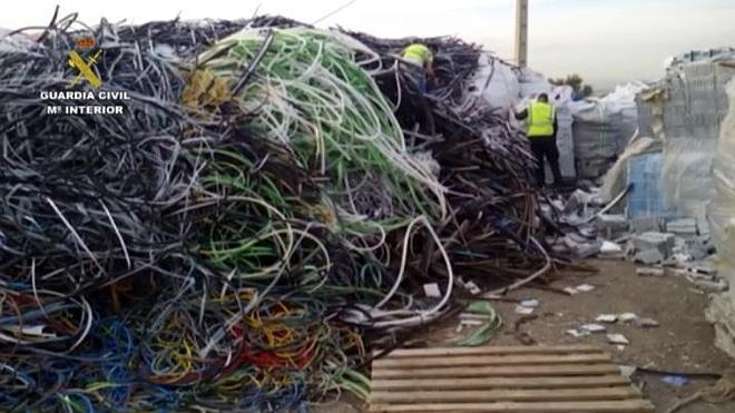 Intervenida la mayor partida de cable de cobre robado a nivel nacional