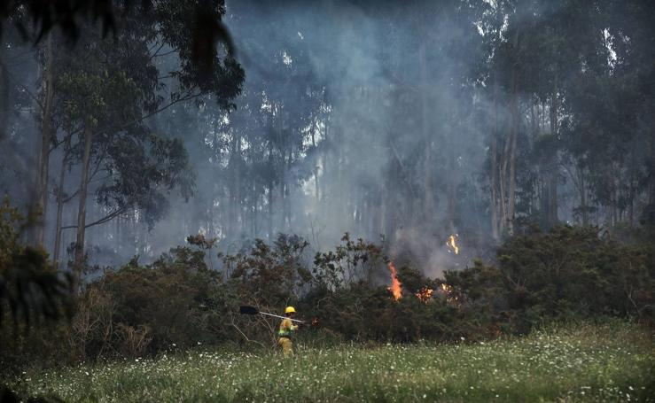 Incendio en Novales