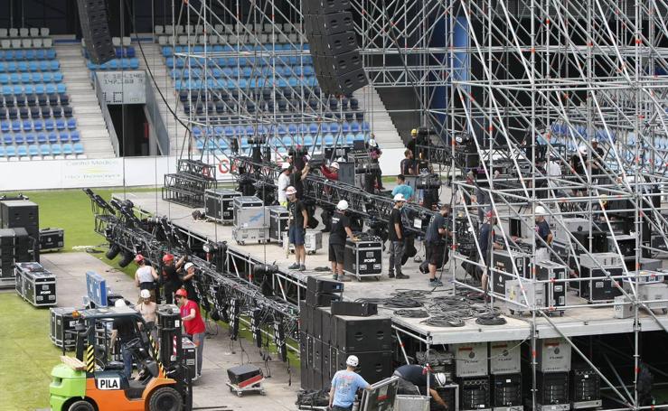 El Malecón se prepara para el concierto de Scorpions