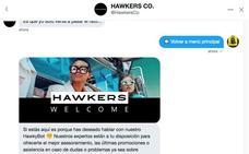 Hawkers abre su tienda en Twitter
