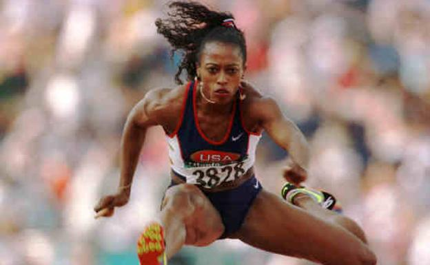 Gail Devers, en una prueba. /Reuters