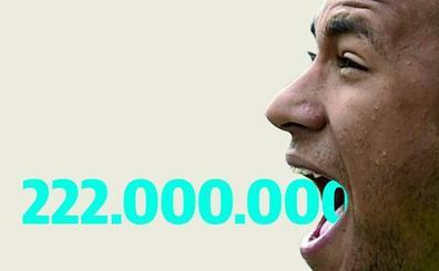 Una cifra interminable: 222.000.000