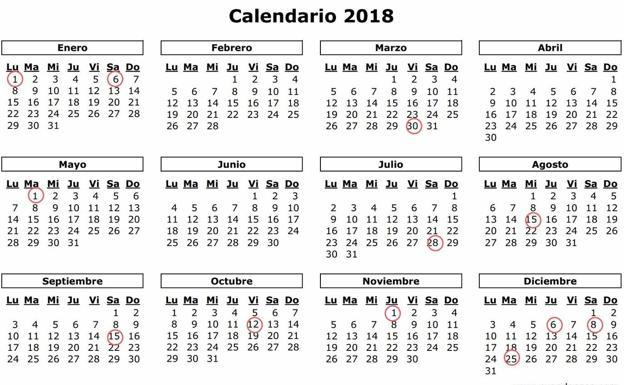 Calendario Diciembre 2018 Con Festivos.Jueves Santo No Sera Festivo En Cantabria En 2018 Habra 7