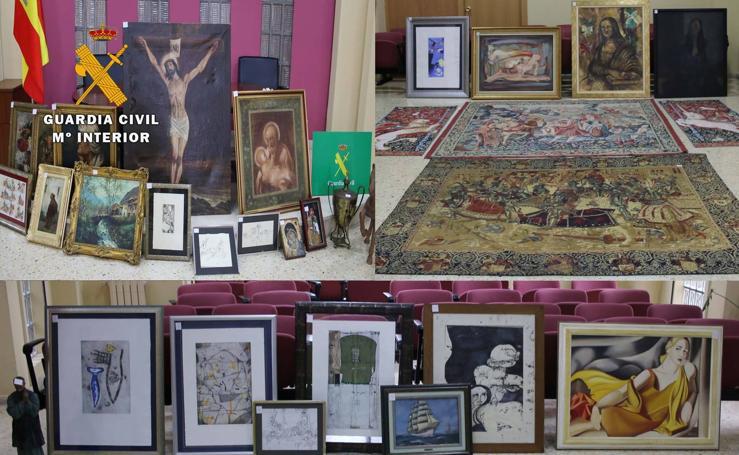 Recuperación de obras de arte robadas en casas de Cantabria