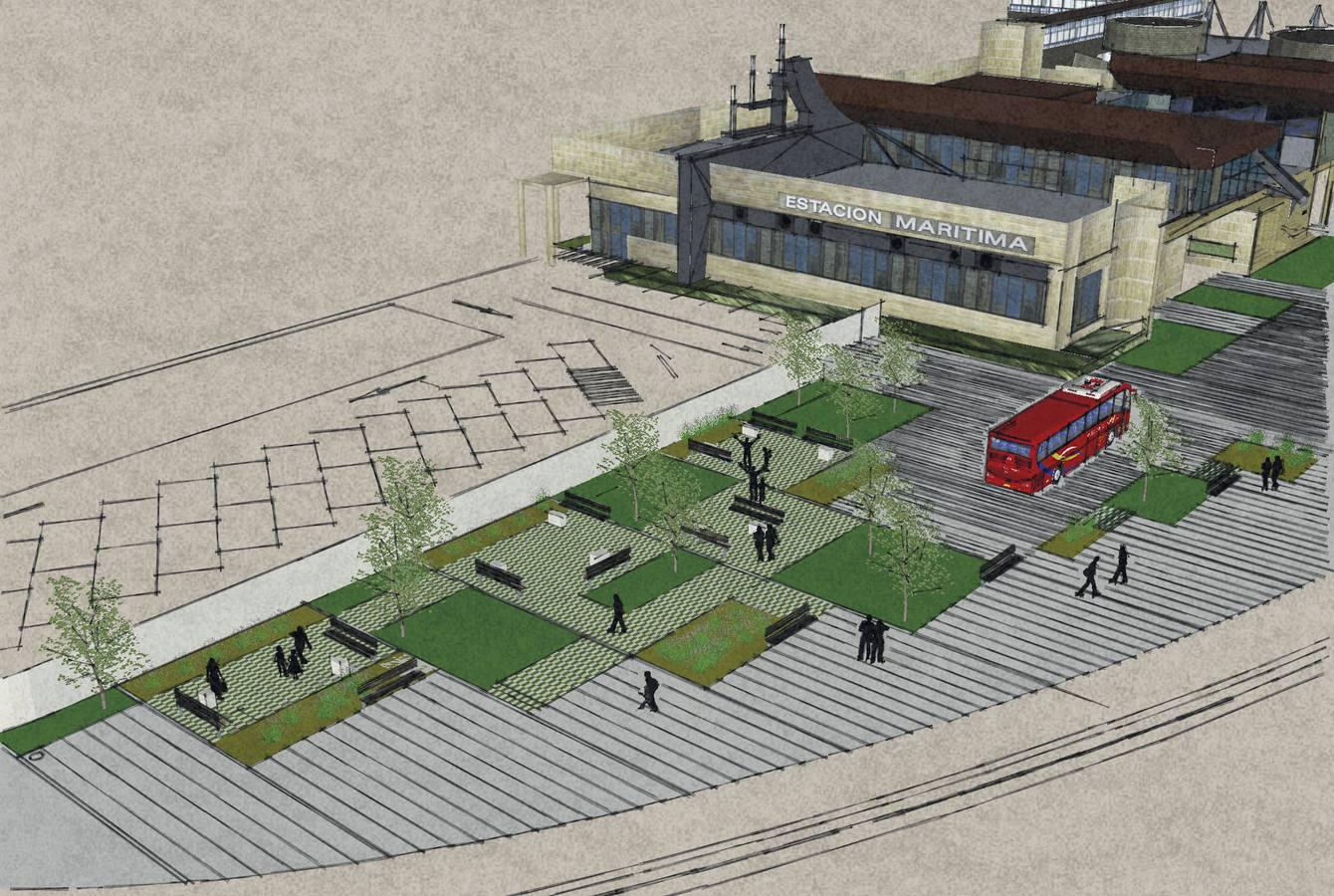 El entorno de la Estación Marítima será zona peatonal en el verano de 2018