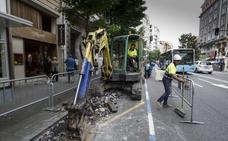 La obra del Metro TUS llega a Calvo Sotelo y elimina los aparcamientos
