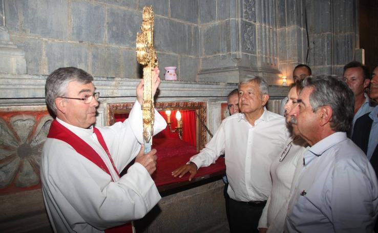 López Obrador en su visita a Cantabria