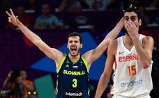 España, desbordada por una genial Eslovenia