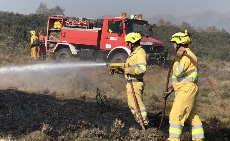 La lucha contra el incendio