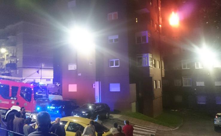 Incendio en un piso en Fernando de los Ríos en Santander
