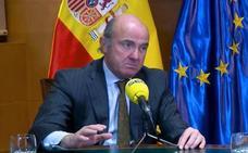 De Guindos calcula que la crisis de Cataluña ha costado «unos 1.000 millones de euros»