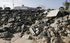 El temporal causa estragos de nuevo en el Puntal de Laredo