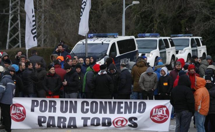 Protestas por el convenio de Bridgestone