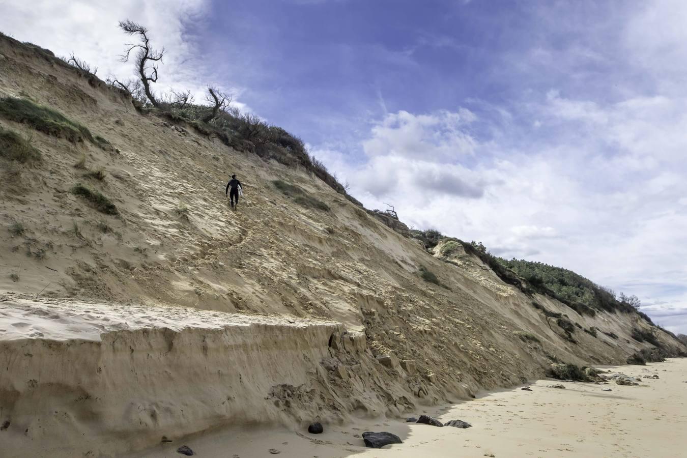 Las dunas de Somo se desmoronan