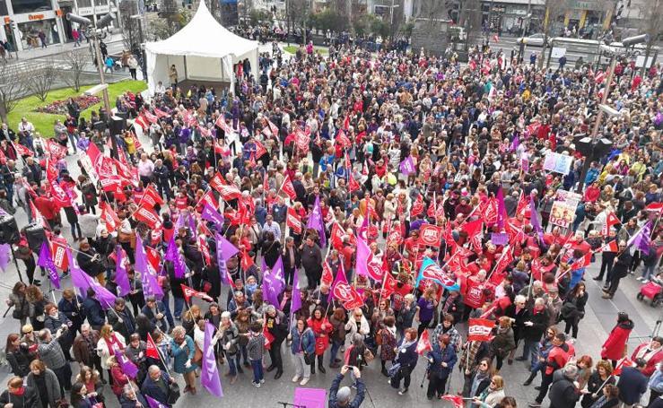 La huelga del 8-M en Cantabria