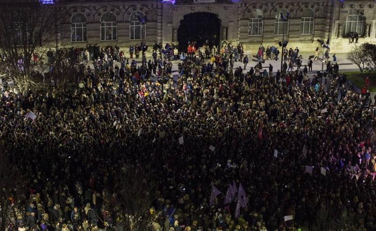 Manifestación multitudinaria en Santander