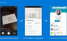 Escanear tarjetas de visita para crear redes en Linkedin