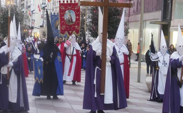 Procesión de El Encuentro en Santander