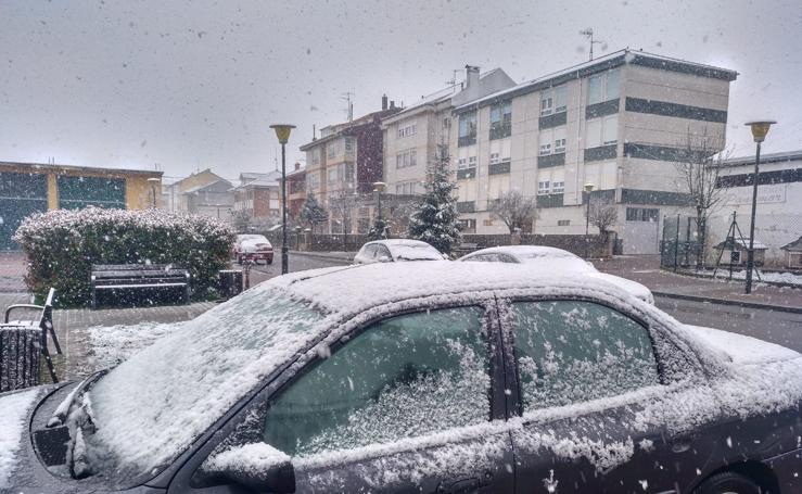 La nieve regresa a Reinosa