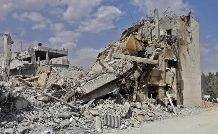 Imágenes del bombardeo en Siria