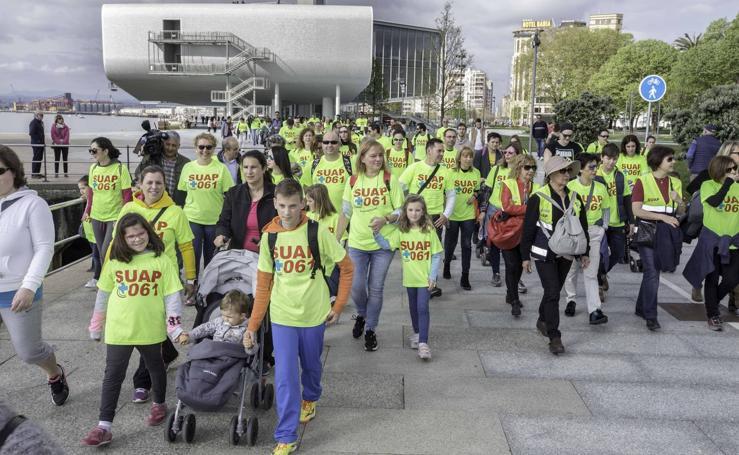 La 'Marcha saludable' de los profesionales del SUAP y 061