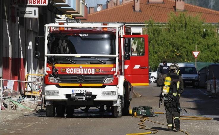 Escape de gas en Torrelavega