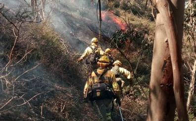 Sólo dos incendios forestales, en Luena y Santiurde de Reinosa, permanecen activos