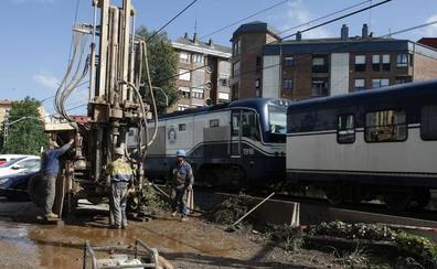 Comienzan los sondeos en el Paseo del Niño y en Pablo Garnica para soterrar las vías del tren