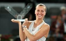 Kvitova consigue su tercera corona en Madrid