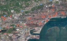 Las obras inundan Santander
