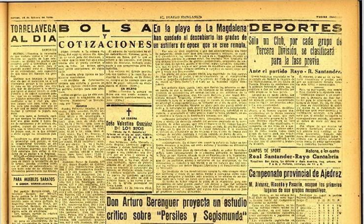 Página de 1948 sobre el yacimiento de La Magdalena