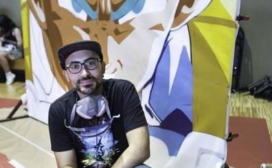 «Uní el grafiti y Dragon Ball porque son mis dos pasiones»