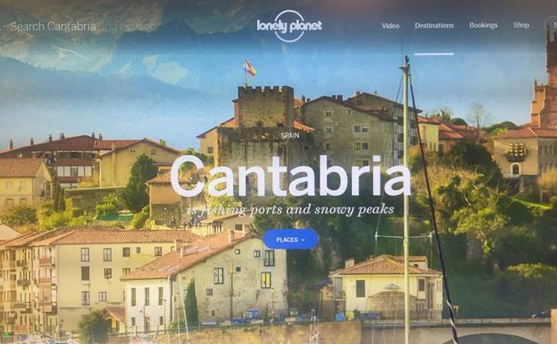 Web de Lonely Planet sobre Cantabria./DM