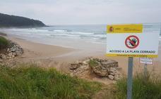 Costas elimina el acceso a la playa de Oyambre desde el Pájaro Amarillo
