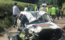 Dos heridos en un accidente en el Rally Valles Pasiegos
