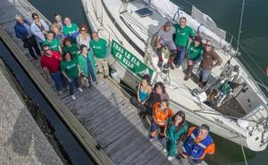 «En este velero viajan conmigo los 4.000 afectados por ELA en España»