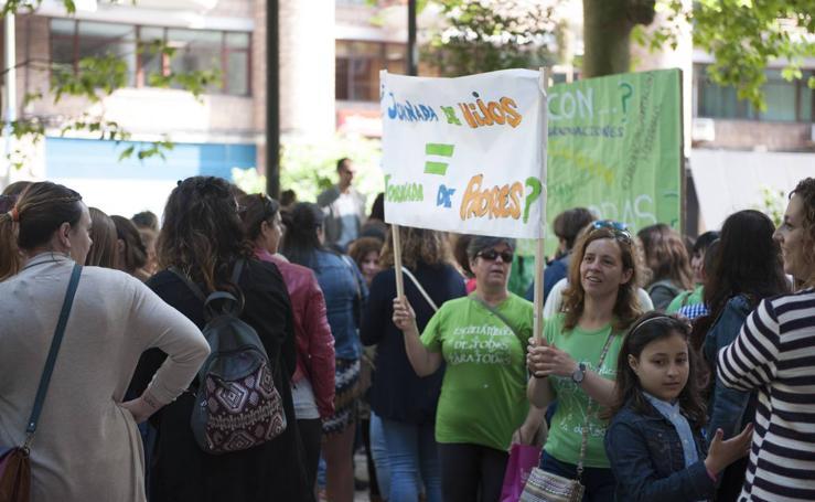 Los profesores se manifiestan en Santander en la jornada de huelga en la educación