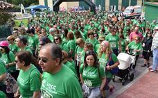 Multitudinaria marcha contra el cáncer celebrada en Cartes