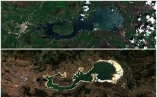 El pantano, a vista de satélite