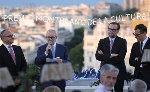 Lafuente recibe en Madrid el premio anual que la Fundación Cultural Montblanc otorga al mecenazgo