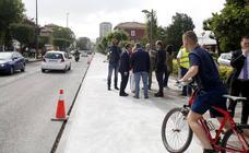 Obras del carril bici que unirá el centro de Torrelavega con Reocín