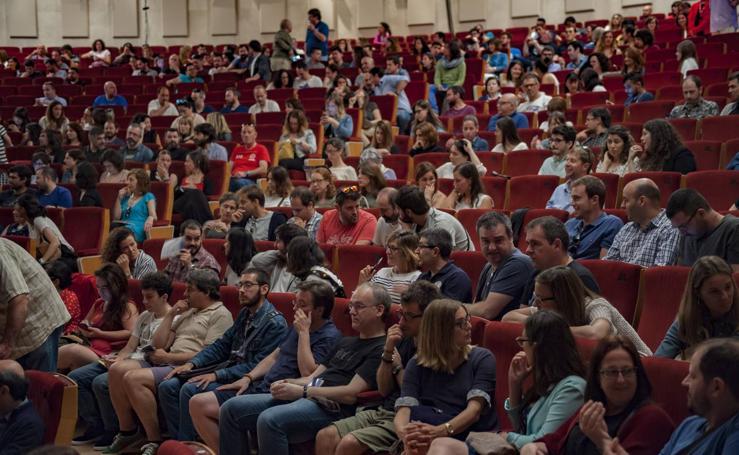 Opositores de Geografía e Historia, en el Palacio de Festivales