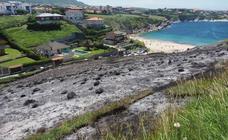 Incendio en la zona de Portio