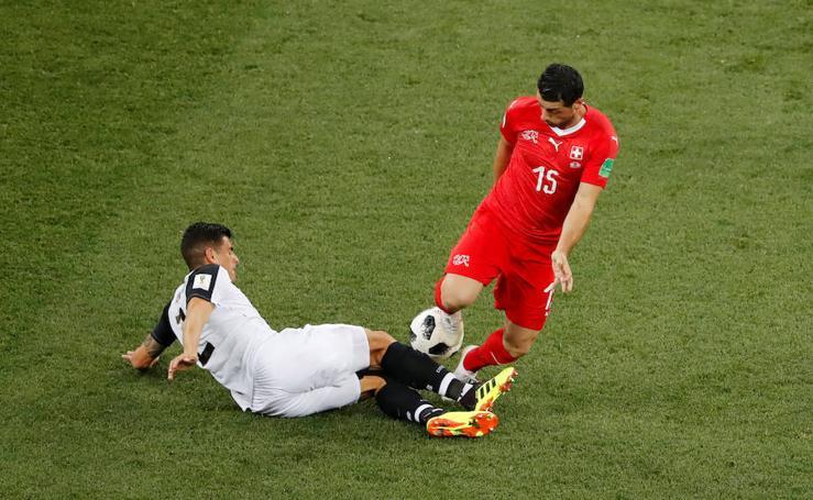 Suiza-Costa Rica, en imágenes