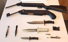 Detienen en Logroño a un hombre por violencia machista y por almacenar varias armas en su casa