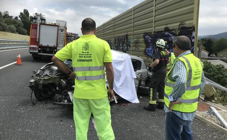 Accidente mortal en la autovía A-8, a la altura de La Penilla de Cayón