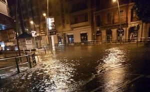 El centro urbano de Castro Urdiales fue la zona más afectada por la tromba de agua
