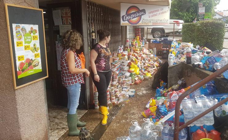 La tromba de agua dejó importantes inundaciones en San Vicente